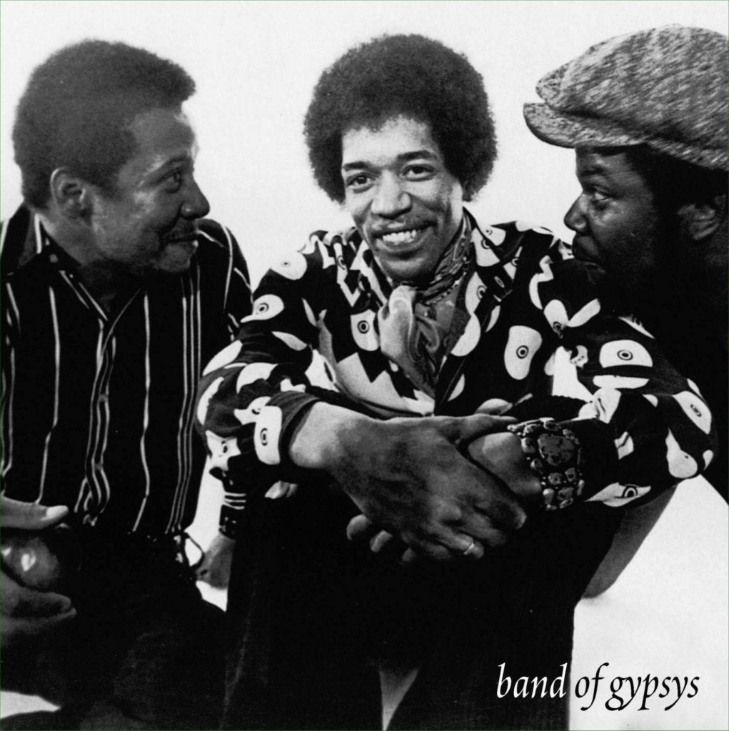 jimi hendrix Band Of Gypsys playing with Billy Cox Buddy Miles