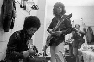 JImi hendrix and rolling stone mick taylor 1969 backstage