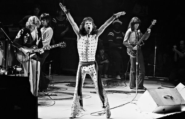the rolling stones mick jagger in 1972 live concert