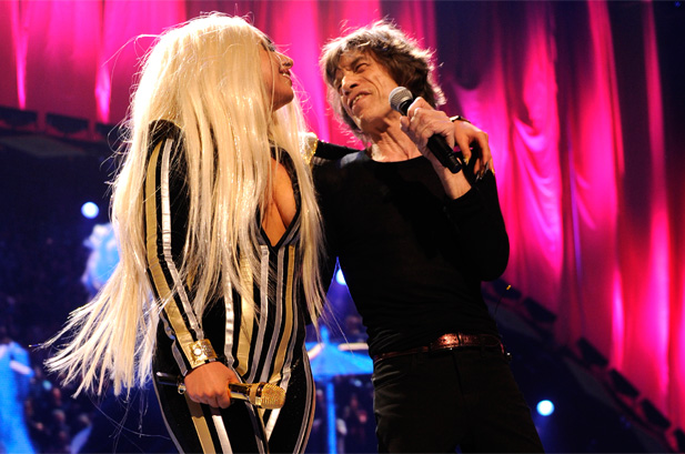lady gaga with mick jagger