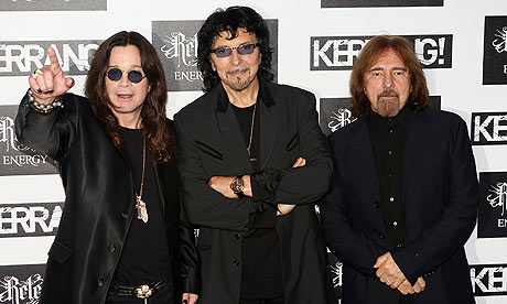 Black Sabbath in 2012 original trio