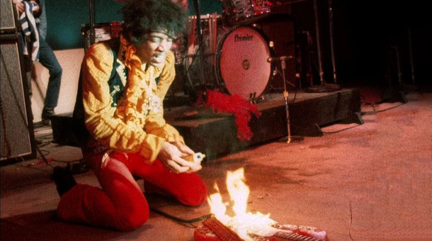 hendrix. sets the guitar on fire monterey pop festival