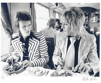 mick ronson with david bowie