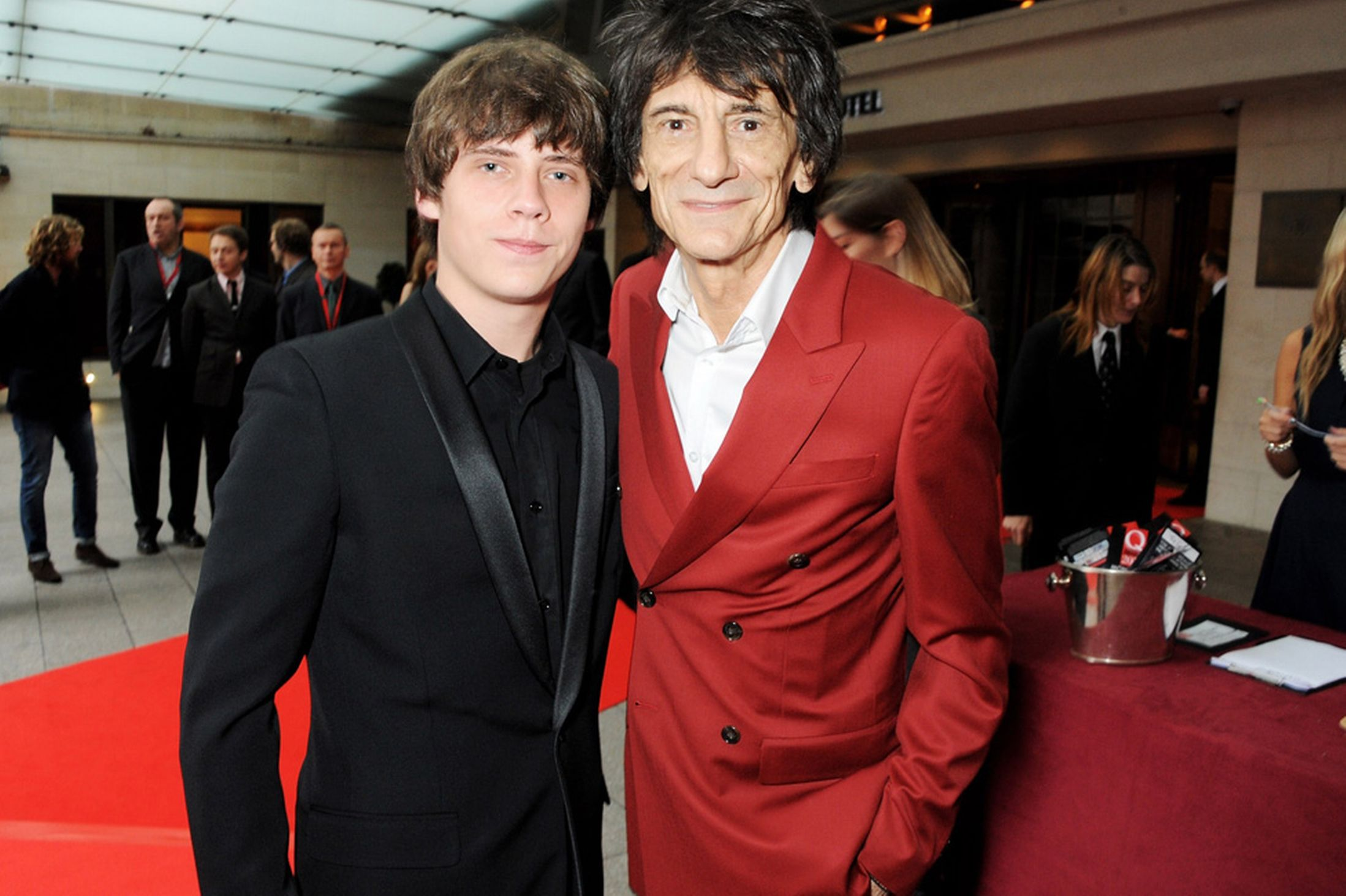 Jake Bugg and Ronnie Wood at The Q Awards