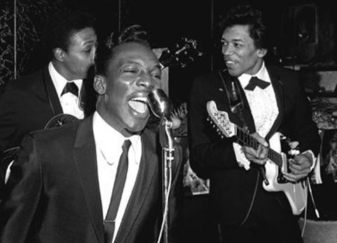 jimi hendrix playing for little richard