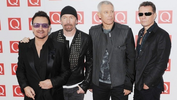 u2 band on q awards 2011
