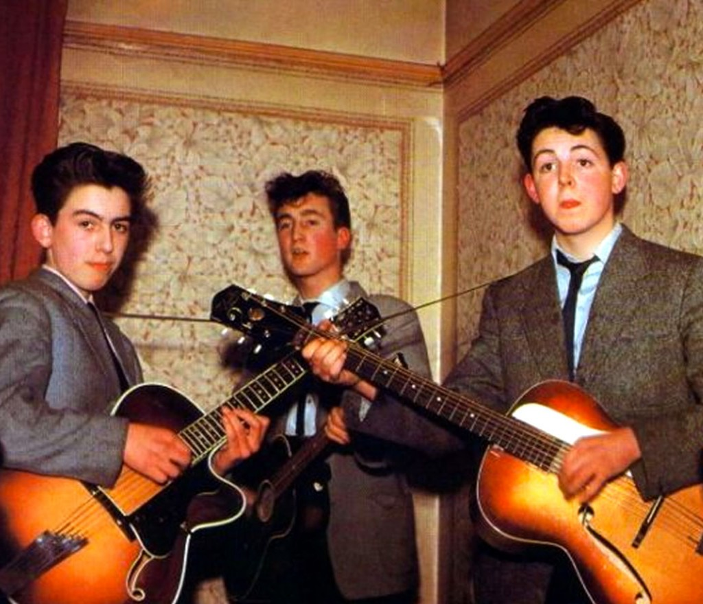 young beatles in 1957