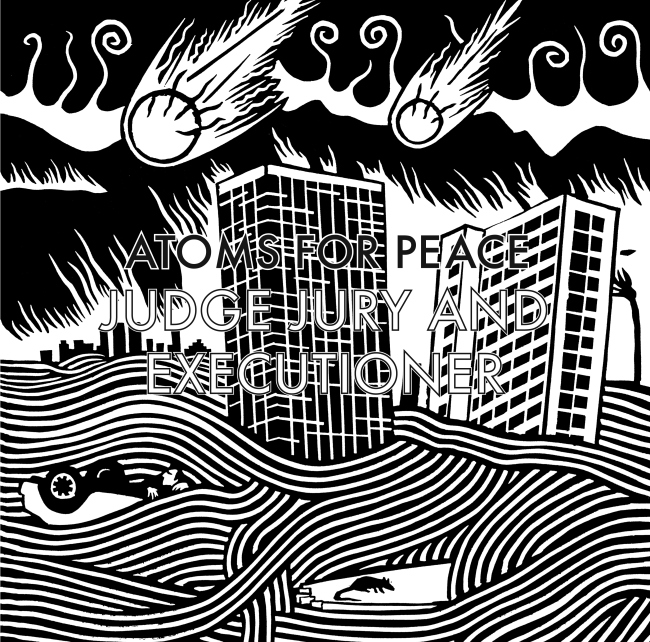 atoms for peace judge jury and executioner cover artwork radiohead and rhcp
