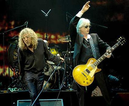 led zeppelin robert plant and jimmy page o2 arena runion