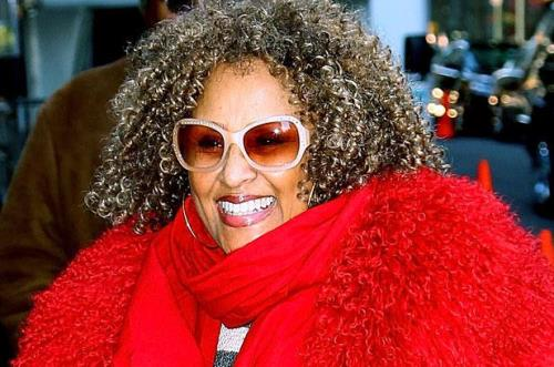 Darlene Love Rock Hall Induction curly hair butterfly glasses