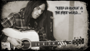 Neil Young Playing Guitar Keep on rockin musiclipse photo