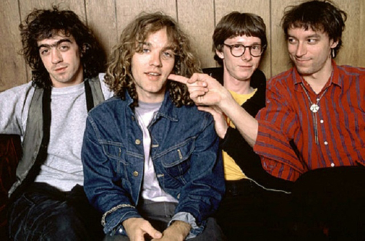 R.E.M. old photo michael stipe curly hair