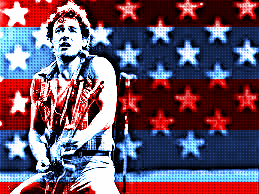 The Boss Springsteen patriotic photograph born in usa