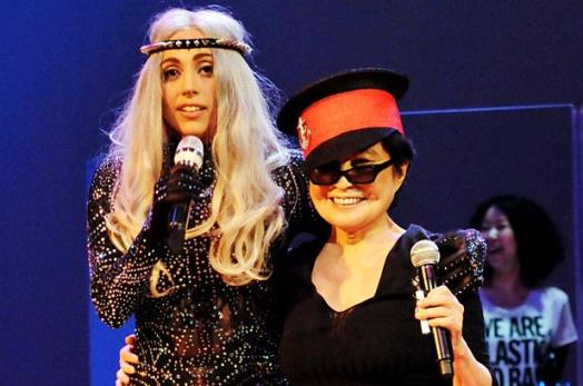 yoko ono lady gaga together