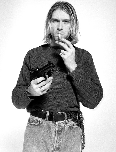 Kurt Cobain was found with a shotgun next to his body
