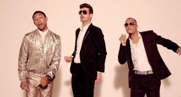 Robin thicke with pharrell williams