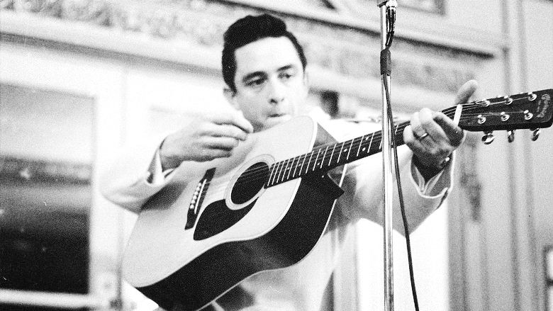 johnny cash famous image wallpaper