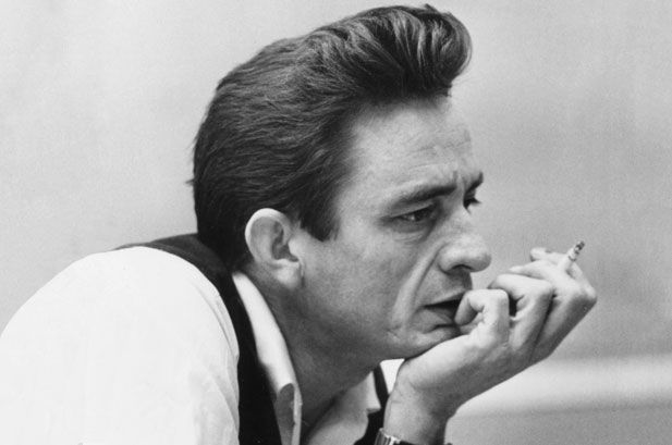 johnny cash classic photo with a cigar
