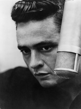 Johnny Cash photo at sun records 1956