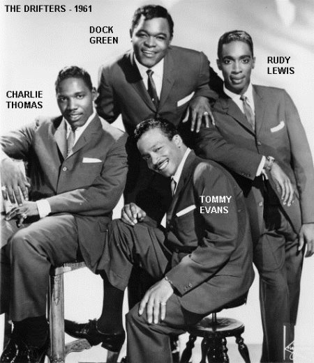the drifters in 1961 with rudy lewis