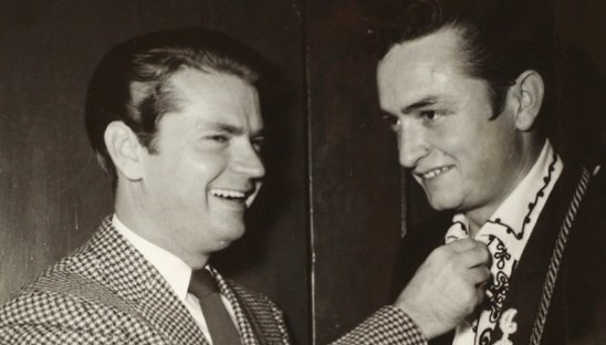 sam pillips johnny cash 1955 at sun records studios