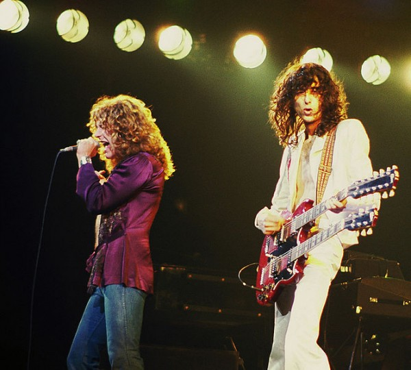 Jimmy Page with Robert Plant Led Zeppelin 1977