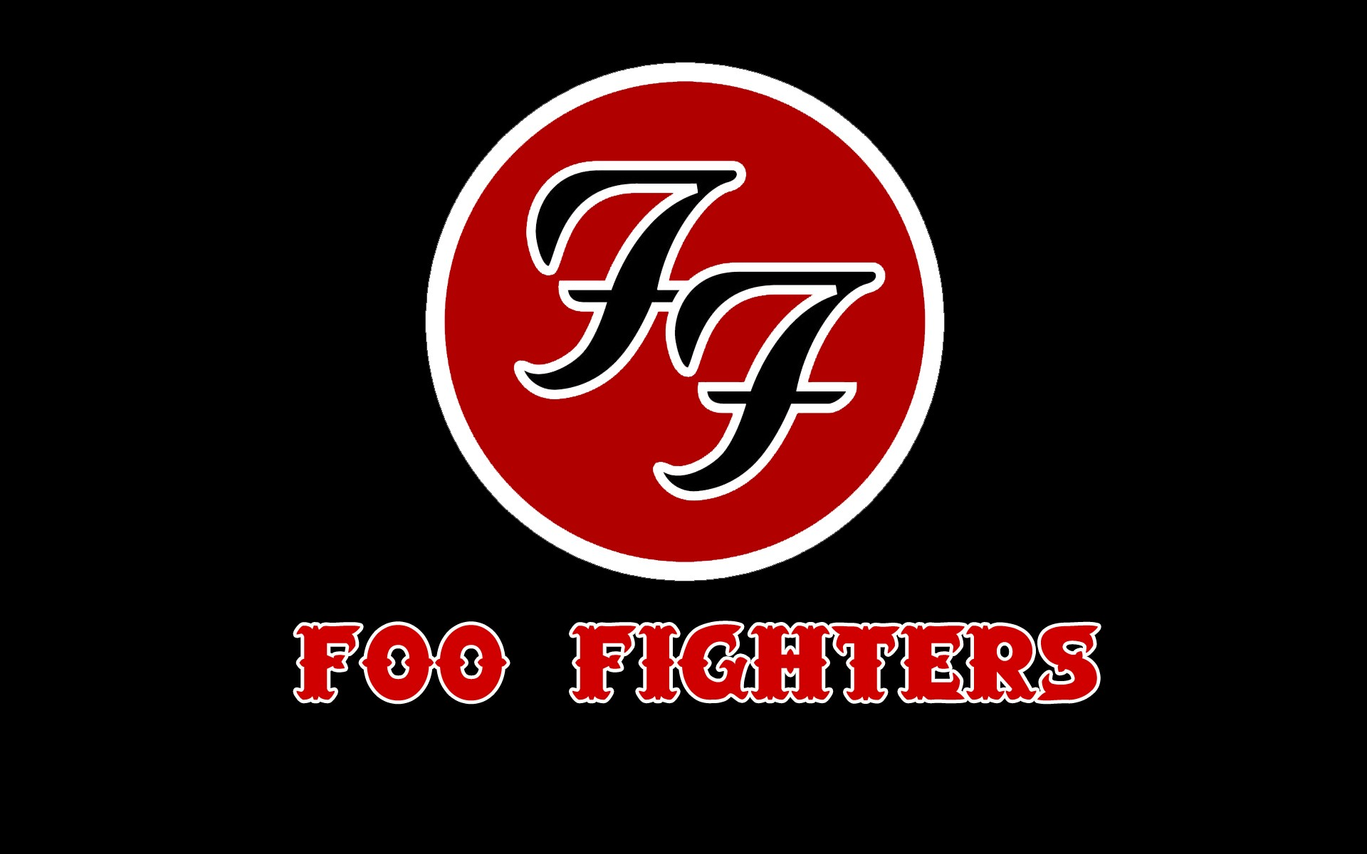 Foo fighters the colour and the shape - Foo Fighters Logo Wallpaper Large