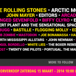 pinkpop festival line up 2014