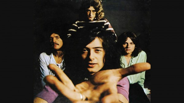 Classic Led Zeppelin Wallpaper With Jimmy Page In Front