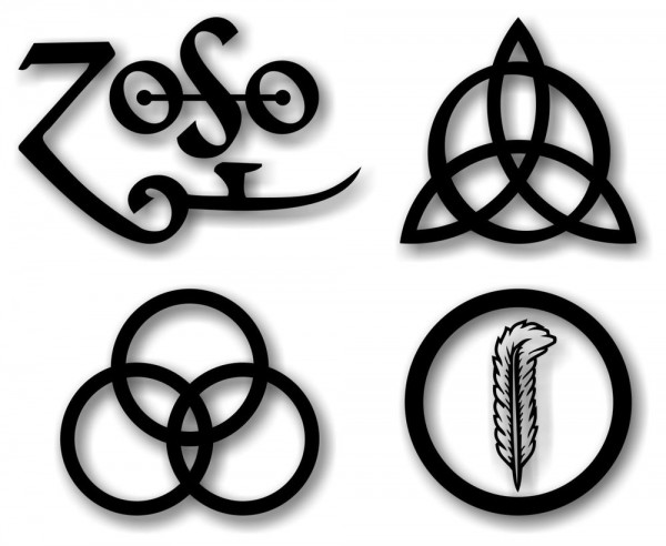 led zeppelin four symbols