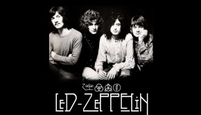 led zeppelin wallpaper blac and white band and logo