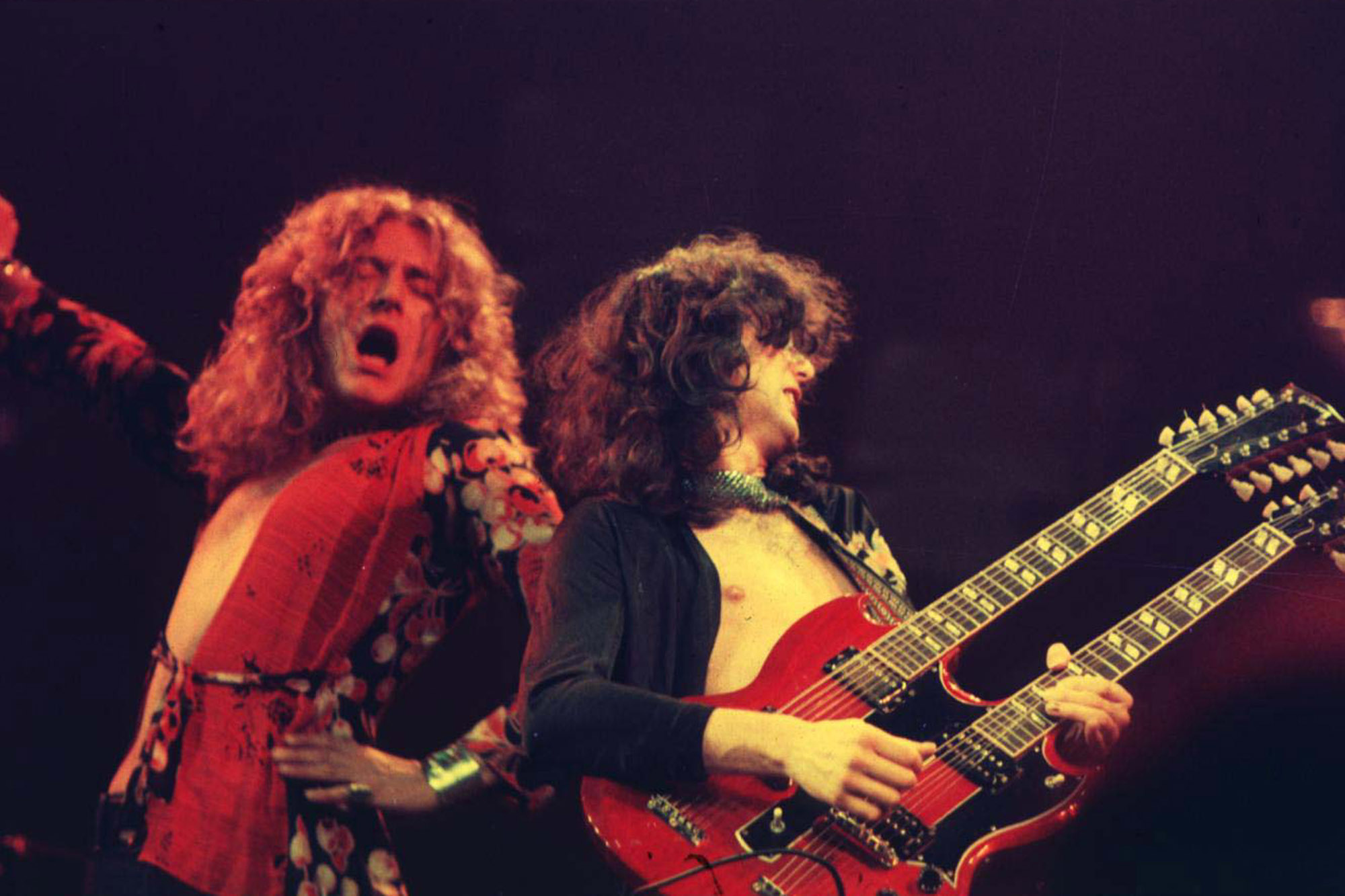 Robert Plant And Jimmy Page Live Wallpaper