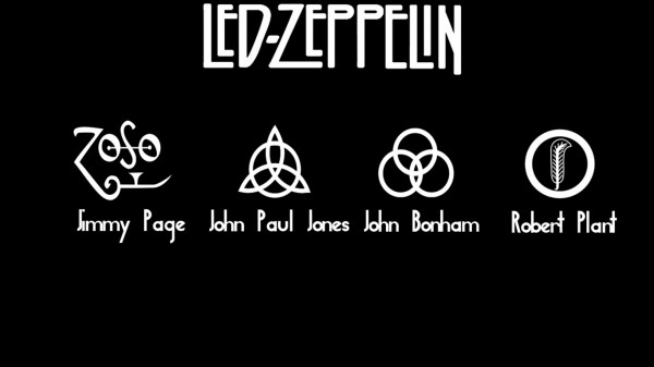 rock band led zeppelin four musicians four symbols