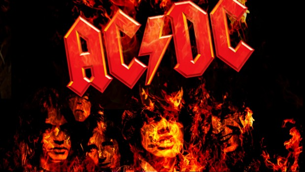 ac dc on fire hd wallpaper