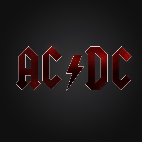 ac dc logo vector wallpaper grey