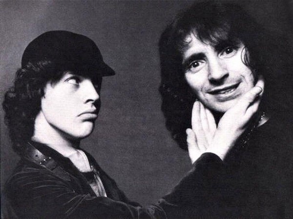 angus young and bon scott funny wallpaper