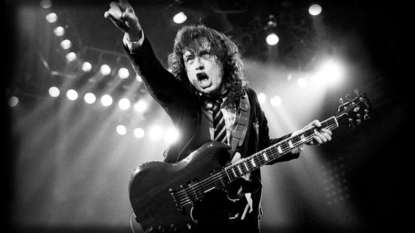 large ac dc angus young wallpaper