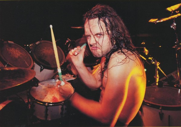 Lars ulrich metallica on drums bloody hands wallpaper