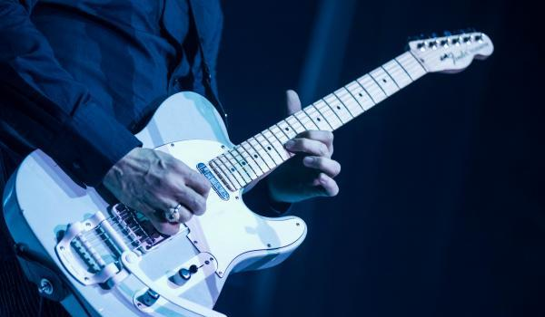 close look to jack white guitar in lazaretto album