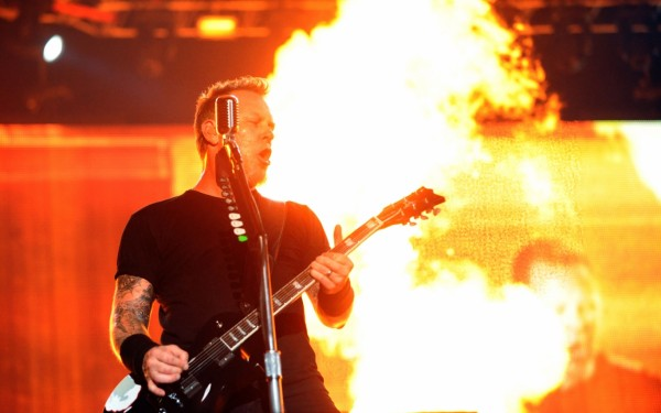 james hetfield in flames wallpaper