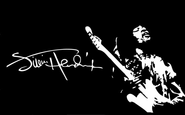 Jimi Hendrix black and white Wallpaper