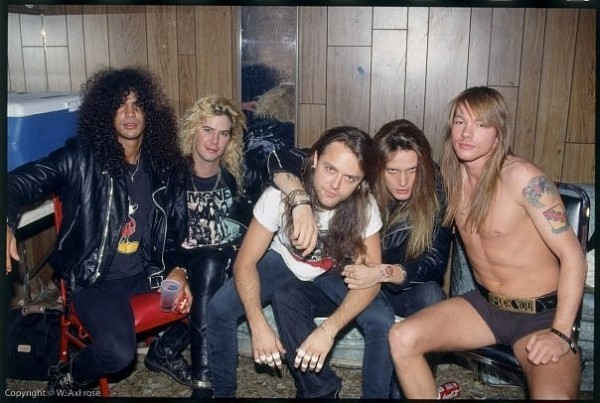 Lars ulrich metallica drummer with guns and roses band