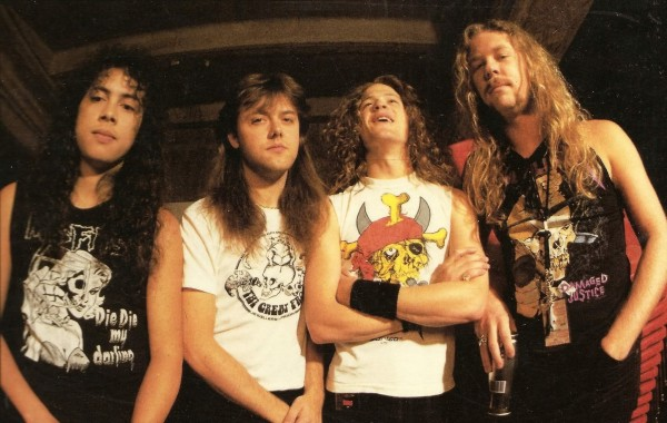 Metallica in 1988 with newsted wallpaper