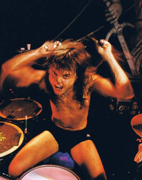 angry Lars Ulrich on drums
