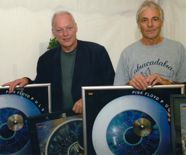 david gilmour with richard wright pink floyd pulse million sales album