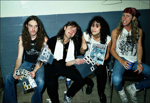 Metallica early years picture with cliff burton