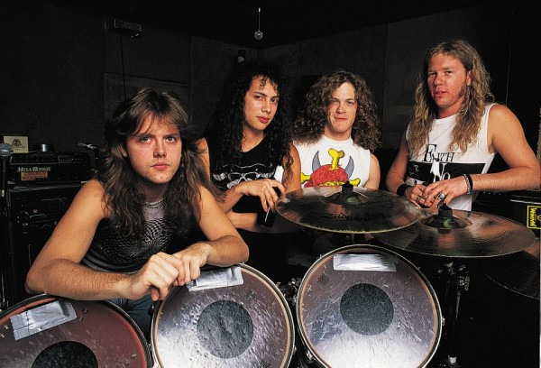 metallica in1988 on lars ulrich drums wallpaper
