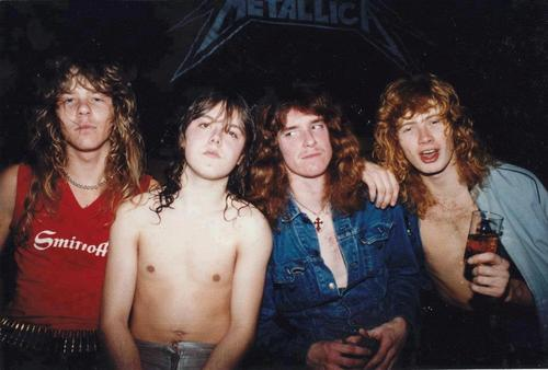 very young first formation metallica band