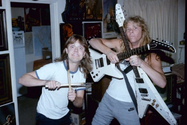 young ulrich and hetfield funny picture