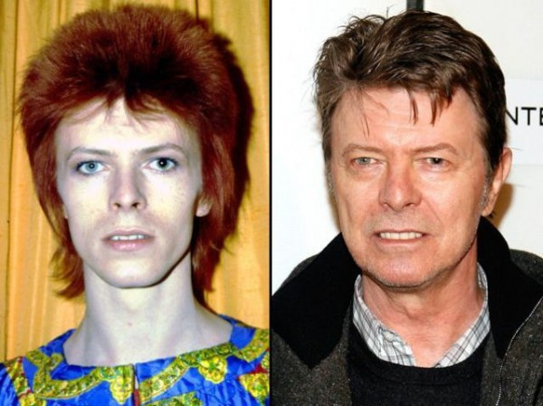 david bowie then and now photo